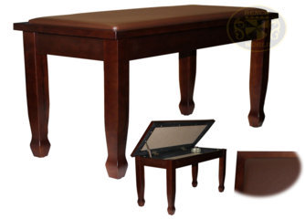 Benchworld's ACE 20 2G SW Finest Selection of Satin Walnut Piano Benches with Storage in Spade Legs
